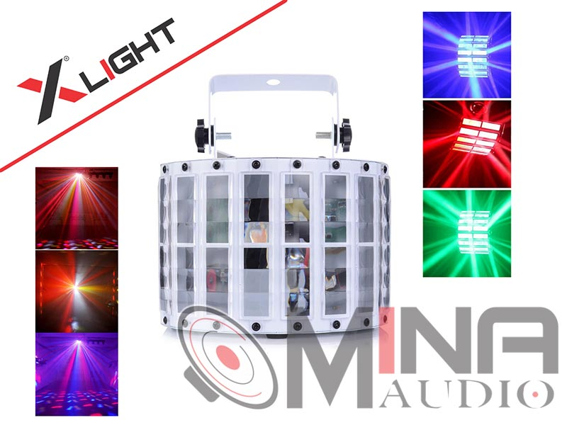 Đèn led 16 bướm XLight XL-led16b cho karaoke