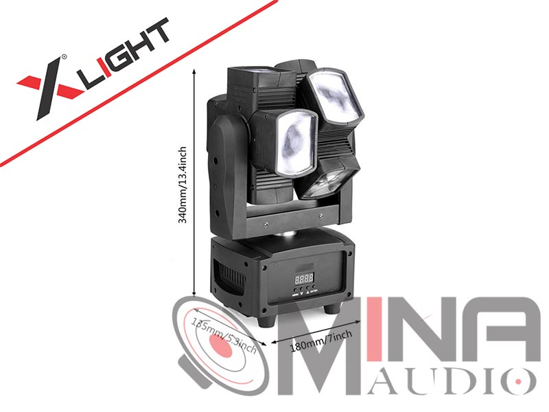 Đèn Led mini Moving Beam 8 Dual XLight XL-MB8D