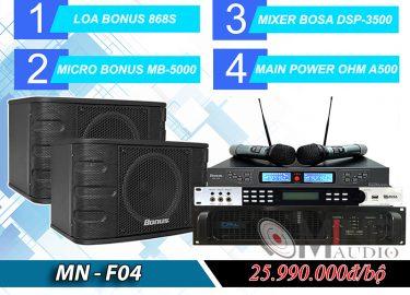 Dàn karaoke gia đình MN-F04 cao cấp