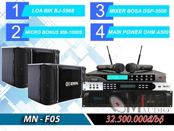 Dàn karaoke gia đình MN-F05 đẳng cấp