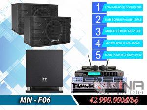 Dàn karaoke gia đình MN-F06 đẳng cấp.