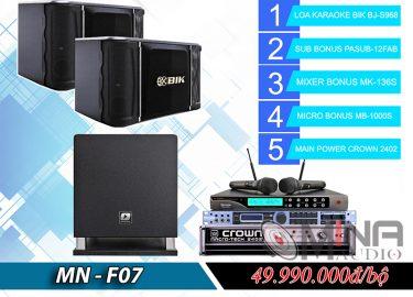 Dàn karaoke gia đình MN-F07 đẳng cấp