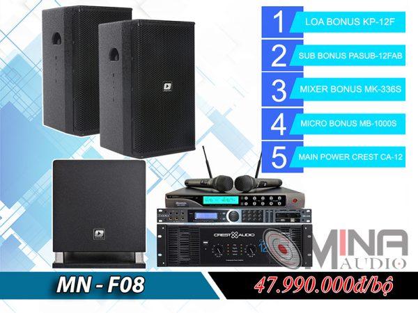 Dàn karaoke gia đình MN-F08 đẳng cấp