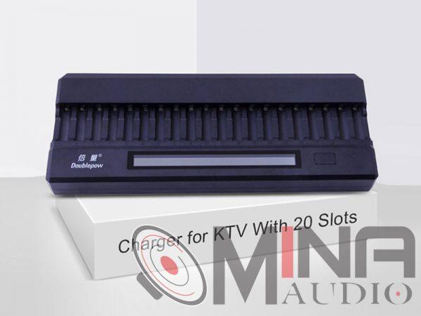 Bộ sạc pin 20 viên thông minh DoublePow DP-K20 tiện dụng.